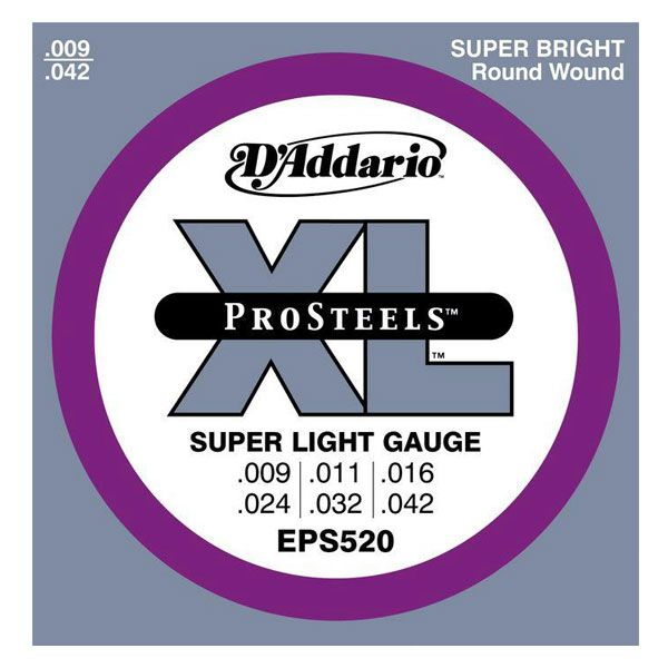 D`ADDARIO EPS520 ProSteels Super Light 9-42