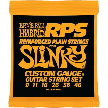 Ernie Ball P02241 RPS-Hybrid Slinky Nickel Wound RPS Reinforced Plain 9-46