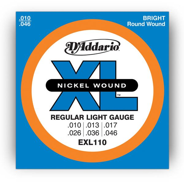 D`ADDARIO EXL110 Regular Light Nickel Wound 10-46