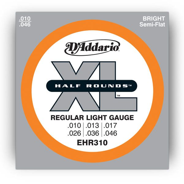 D`ADDARIO EHR310 Regular Light Half Rounds 10-46