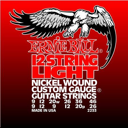 Ernie Ball P02233 12-String Light Electric Nickel Wound 9-9. 46-26.