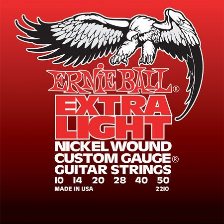 Ernie Ball P02210 Extra Light Electric Nickel Wound 10-50