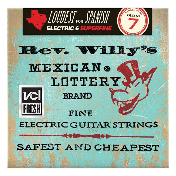Dunlop RWN0738 Rev. Willy's Lottery Billy Gibbons Extra Light 7-38