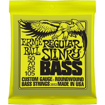 Ernie Ball P02832 REGULAR SLINKY BASS NICKEL WOUND 50-105