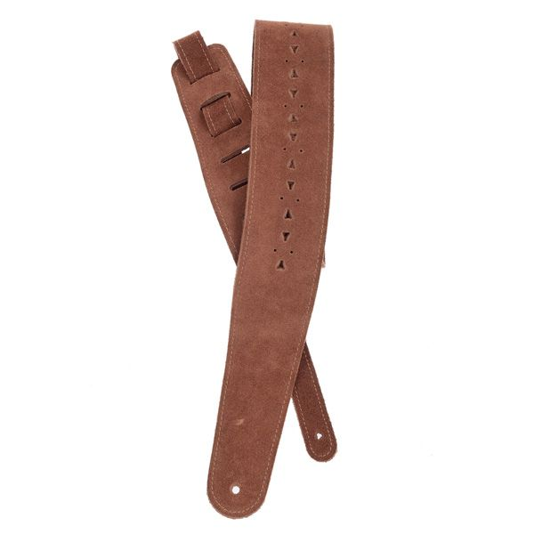 Planet Waves 25PRF05 Vented Leather Guitar Strap, Honey Suede Apache