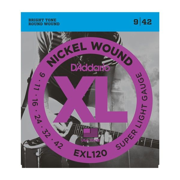D`ADDARIO EXL120 Super Light Nickel Wound 9-42