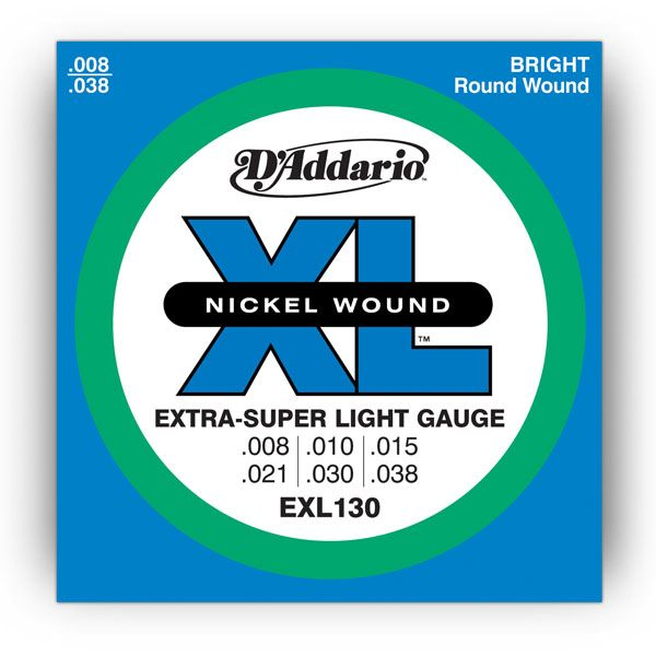 D`ADDARIO EXL130 Extra-Super Light Nickel Wound 8-38