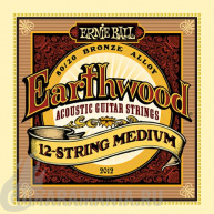 Ernie Ball P02012 EARTHWOOD 12-STRING Medium ACOUSTIC 80/20 BRONZE 11-52. 11-28.