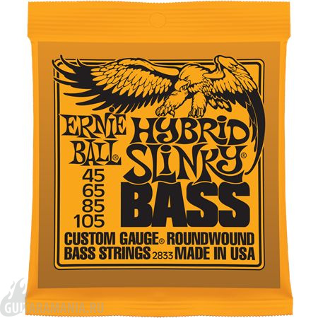 Ernie Ball P02833 HYBRID SLINKY BASS NICKEL WOUND 45-105