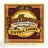 Ernie Ball P02006 EARTHWOOD EXTRA LIGHT ACOUSTIC 80/20 BRONZE 10-50