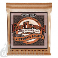 Ernie Ball P02153 EARTHWOOD 12-STRING LIGHT ACOUSTIC PHOSPHOR BRONZE 9-46. 9-26.