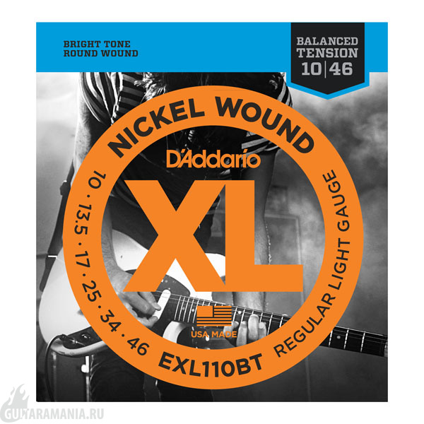 D`ADDARIO EXL110BT Regular Light Gauge Nickel Wound 10-46