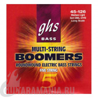 GHS 5ML-DYB Bass Boomers Medium Light String