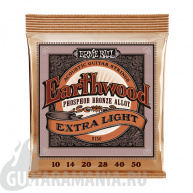 Ernie Ball P02150 EXTRA LIGHT Earthwood Phosphor Bronze 10-50