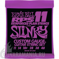 Ernie Ball P02242 RPS-11 Power Slinky Nickel Wound RPS Reinforced Plain 11-48