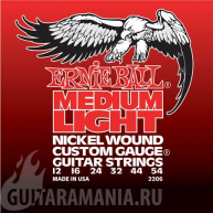 Ernie Ball P02206 Medium Light Nickel Wound 12-54