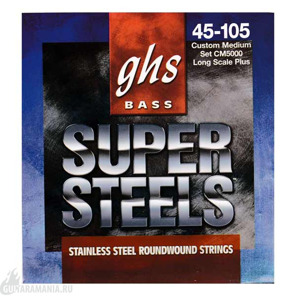 GHS CM5000 Bass Super Steels Custom Medium String