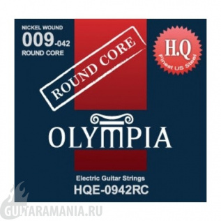 Olympia HQE-0942RC Round Core Nickel Wound 09-42